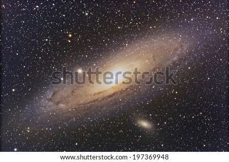 Andromeda Galaxy in  the constellation Pegasus.  - stock photo