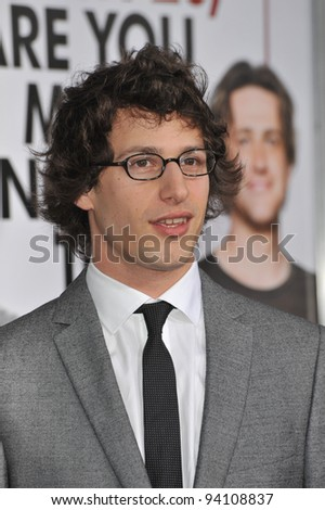"Andy Samberg at the Los Angeles premiere of his new movie ""I Love You, Man"" at the Mann's Village Theatre, Westwood. March 17, 2009  Los Angeles, CA Picture: Paul Smith / Featureflash"