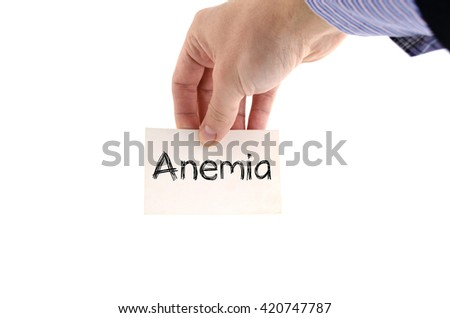 Anemia text concept isolated over white background