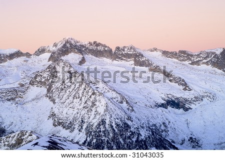 Aneto Peak in Pyrenees