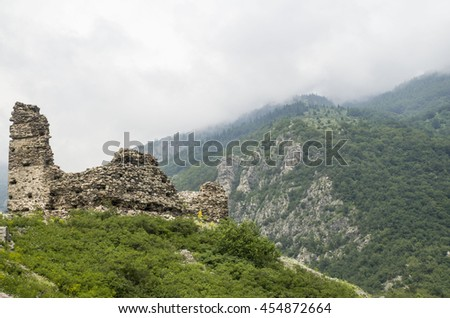 Anevo Fortress in Stara planina near Sopot , central Bulgaria, Europe - stock photo