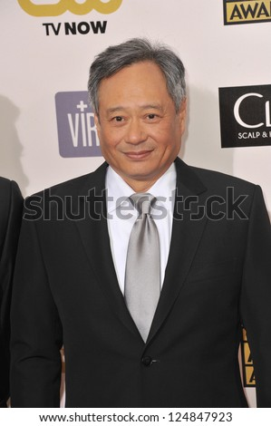 Ang Lee at the 18th Annual Critics' Choice Movie Awards at Barker Hanger, Santa Monica Airport. January 10, 2013  Santa Monica, CA Picture: Paul Smith