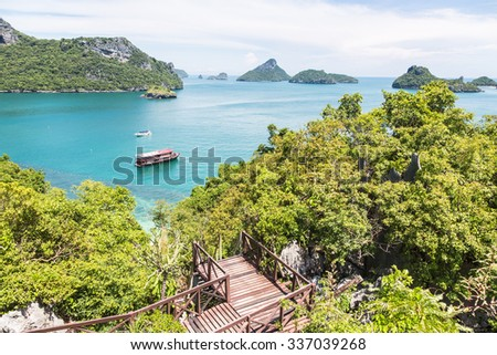 Ang Thong Marine National Park is an archipelago containing 42 stunning island near Ko Samui, Ko Tao and Ko Phan-Ngan in the gulf of Thailand.