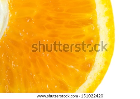 ange fruits for vitamin C is high. On a white background. - stock photo