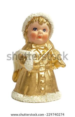 angel as Christmas decoration - stock photo