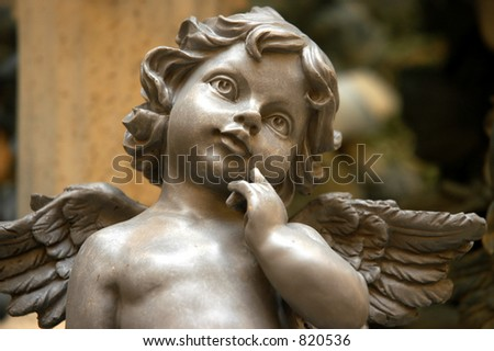 Angel contemplating