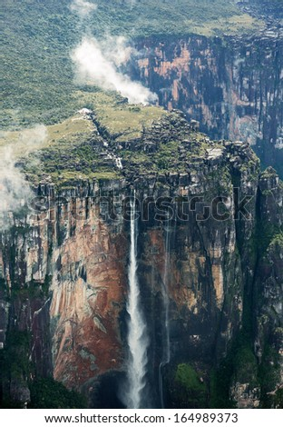 angel falls top fragment worlds highest stock photo edit now