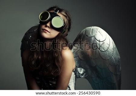 angel girl - stock photo