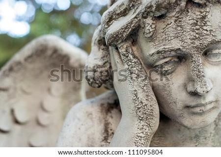 angel head closeup - stock photo