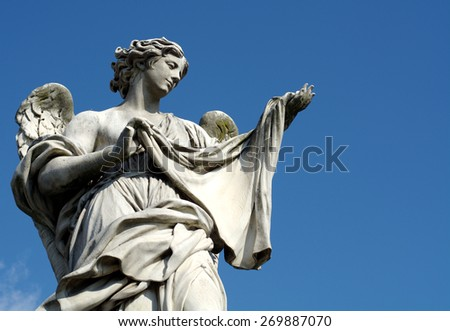 Angel in Rome - stock photo