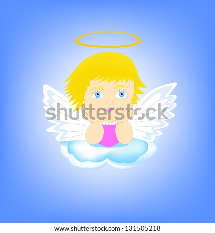 Angel.  Its a raster version. Vector search in my portfolio. - stock photo