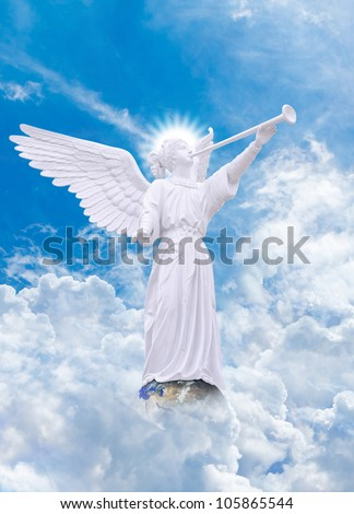 Angel on heaven : Elements of this image furnished by NASA - stock photo