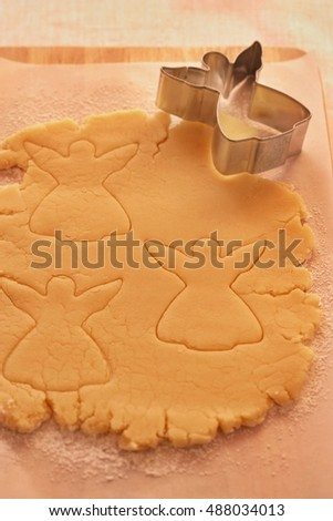 Angel pastry cookie cutter