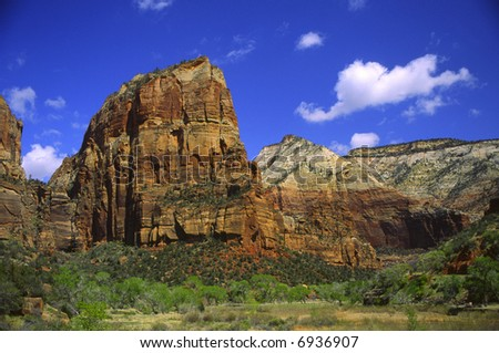 Angel's Landing in Zion Canyon - stock photo