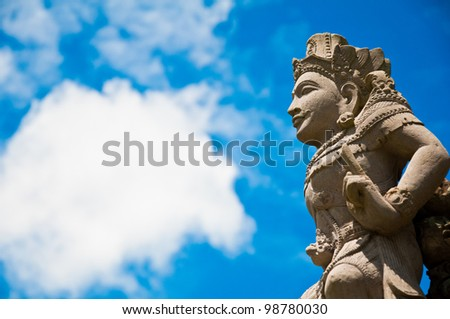 Angel statue in the sky, at Bali Indonesia