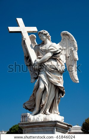 Angel statues in Rome