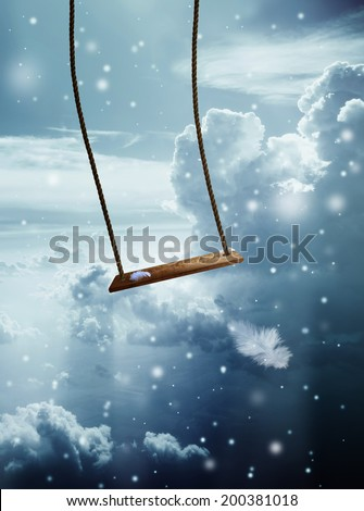 Angel swing - stock photo
