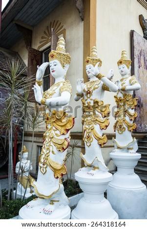 angel who heal buddha - stock photo