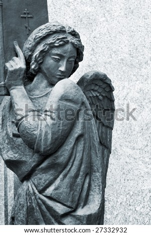 angel with bible - stock photo