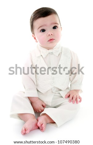 Angelic baby boy - stock photo