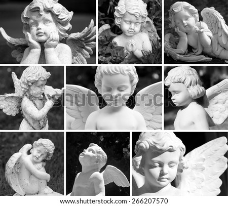 angelic guardians composition - stock photo