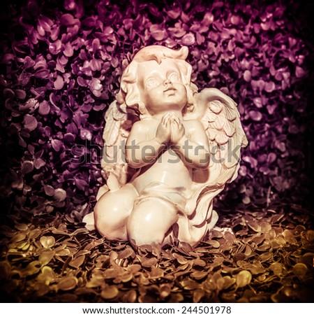 angelic statue - stock photo