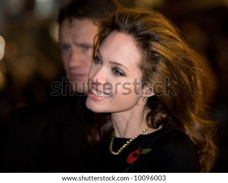 Angelina Jolie at the european premiere of 'Beowulf' at the Vue cinema on November 11, 2007, London, England.