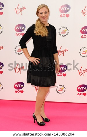 Angelique Kerber arriving for the WTA Pre-Wimbledon Party 2013 at the Kensington Roof Gardens, London. 20/06/2013 - stock photo