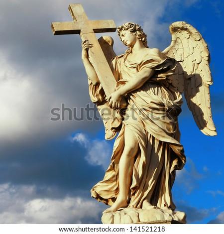 angels of Roma - stock photo