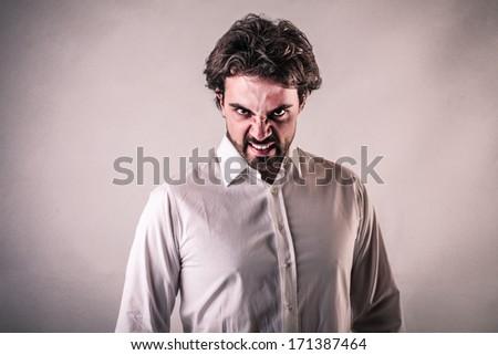 anger - stock photo