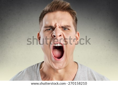 Anger, rage, shout. - stock photo