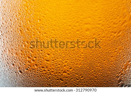 Angered by the bubbles in beer , background - stock photo