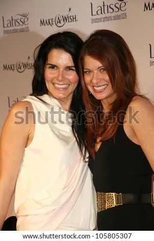 Angie Harmon and Debra Messing at the Launch Party for Latisse, benefiting the Make a Wish Foundation. 800 North La Cienega, Los Angeles, CA. 03-26-09