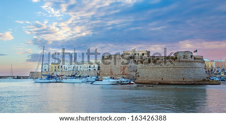 Angioino castle of Gallipoli, Italy   - stock photo