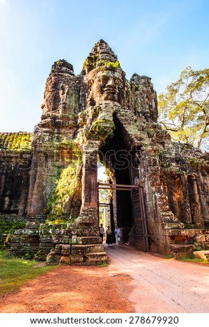Angkor Thom in Cambodia - stock photo
