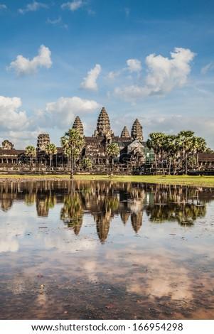 Angkor Wat Castle, Cambodia - stock photo