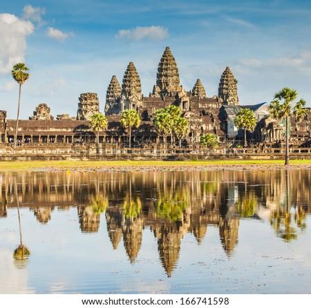 Angkor Wat Castle, Canbodia - stock photo