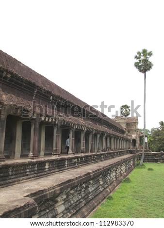 Angkor Wat in Seam Reap, Cambodia - stock photo