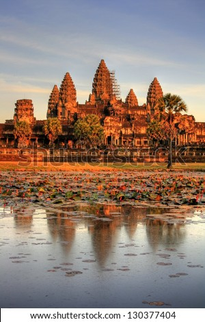 Angkor Wat - Siam Reap (Cambodia) - stock photo