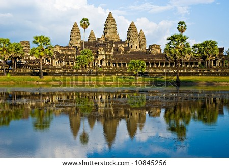 Angkor Wat Temple before sunset, Siem Reap, Cambodia.