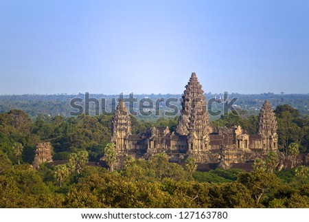 Angkor Wat Temple, Cambodia. - stock photo