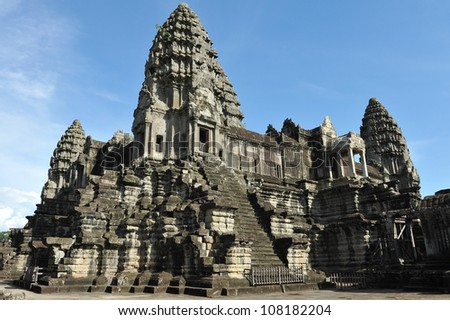 Angkor Wat Temple in Cambodia - stock photo
