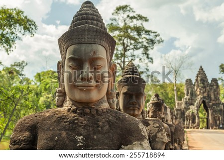 Angkor wat temple in Siem Reap city in Cambodia - stock photo