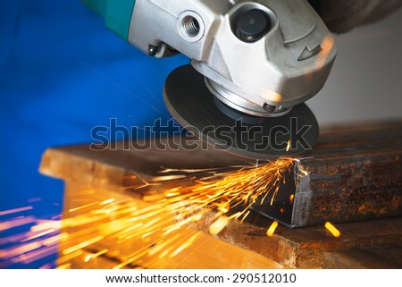 angle grinder - stock photo