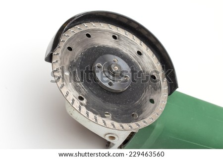 angle grinder on the white background