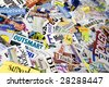 Angled Magazine Word Clipping Background - stock photo