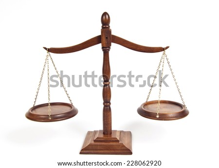 Angled Shot Of Antique Scales/Scales Of Justice