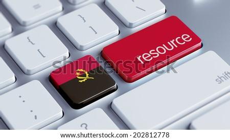 Angola High Resolution Resource Concept - stock photo