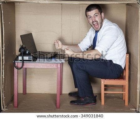 Angry and desperate businessman - stock photo