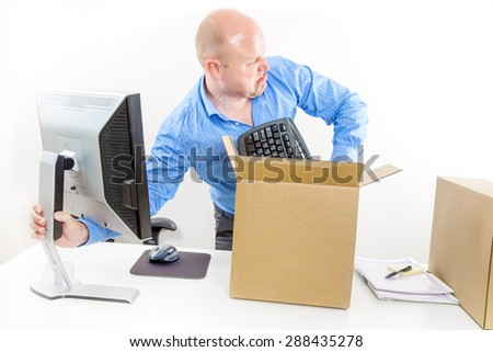 Angry and fired businessman - stock photo
